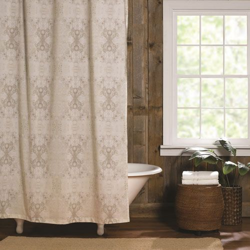 Gigi Neutral Shower Curtain Poetic Wanderlust By Tracy Porter Curtains Bath Accesso