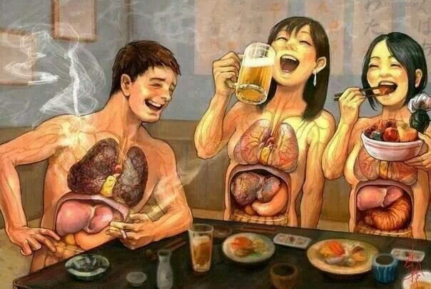 Effects of smoking on the liver