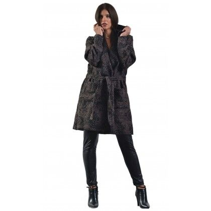 Παλτό με γιακά & ζωνάκι