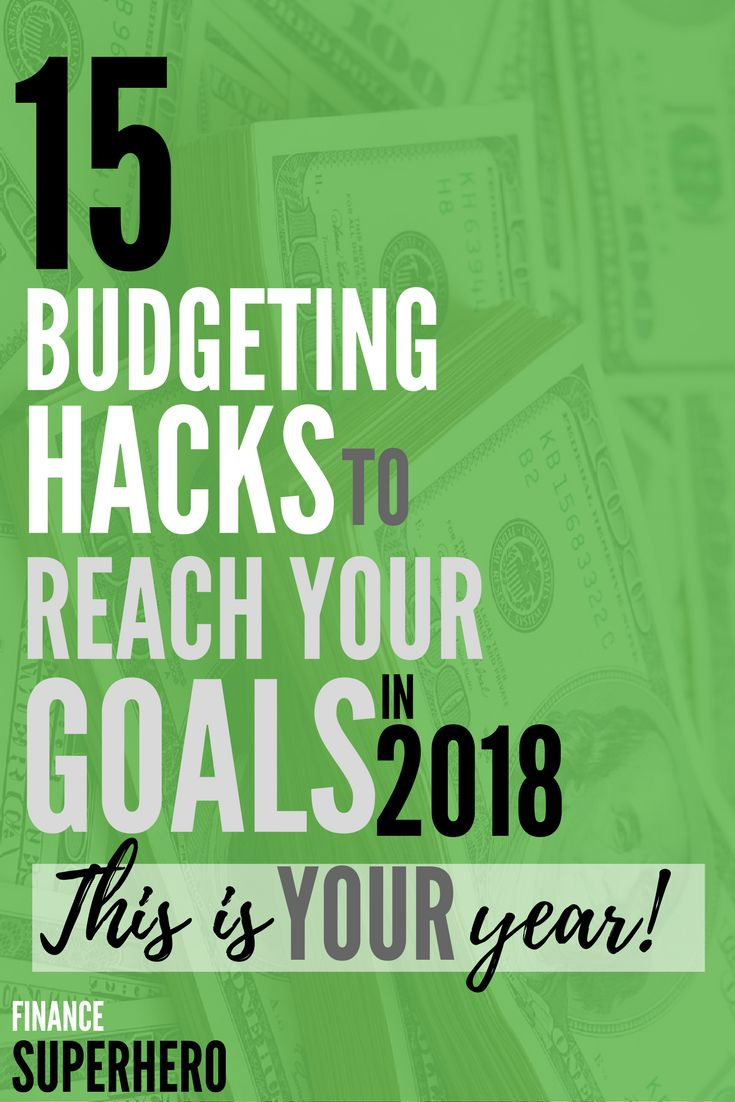 Ring in the New Year with 15 game-changing hacks to your budget. This article is packed with tips to help you save more money and make 2018 a great year! #newyearsresolutions #moneytips #budget