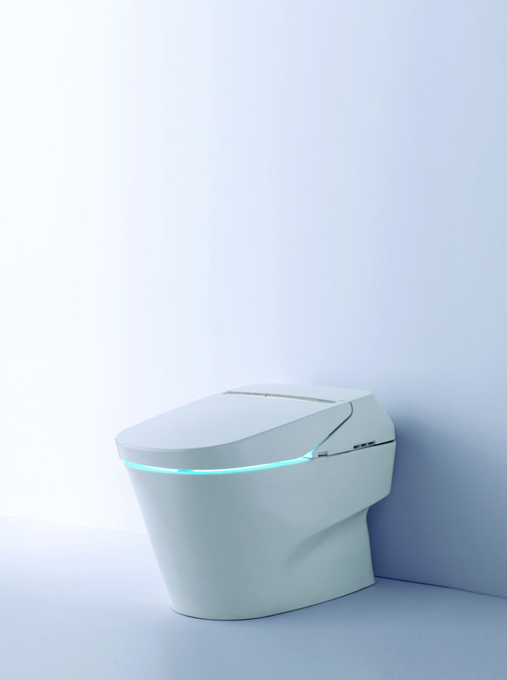 TOTO's new Neorest 750H toilet is one of the most exciting advancements in bathroom technology. #toto #bathroom #toilet
