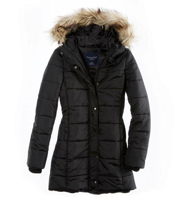 long black puffer coat - just needs a belt