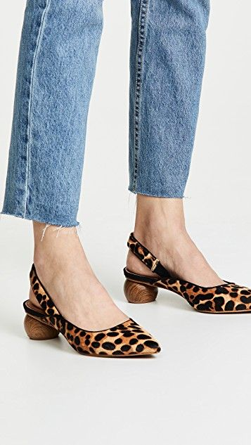 26b758bb2cd61a Circa Slingback Haircalf Pumps in 2019
