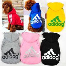 De! Pet, Pet Cat Dog filhote de cachorro casaco com capuz roupas outono Sportswear camisola de algodão(China (Mainland))