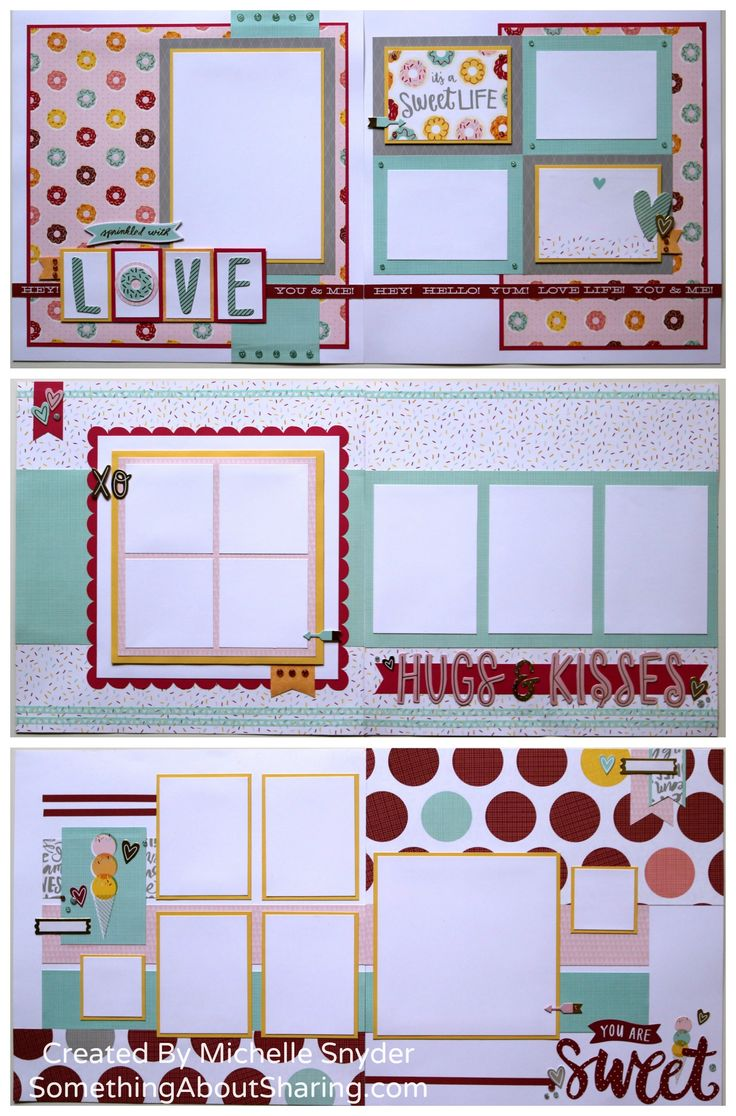 Scrapbook ideas about yourself - These Scrapbook Layouts Created With Ctmh Sugar Rush Papers And Accessories Are Truly Sprinkled With Fun
