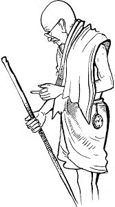 gandhiji standing coloring pages - photo#42