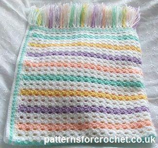 Free baby crochet pattern multi colour blanket http://www.patternsforcrochet.co.uk/afghan-blanket-usa.html  #patternsforcrochet