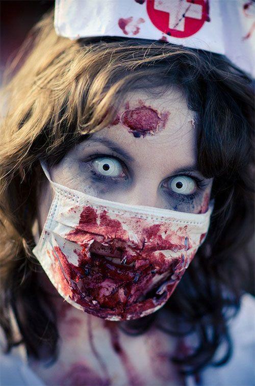 zombie nurse face makeup