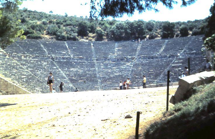 The Ampitheatre at Epidaurus.