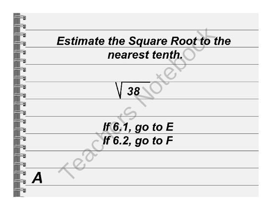 164 best Exponents roots images on Pinterest Math middle school - square root chart template