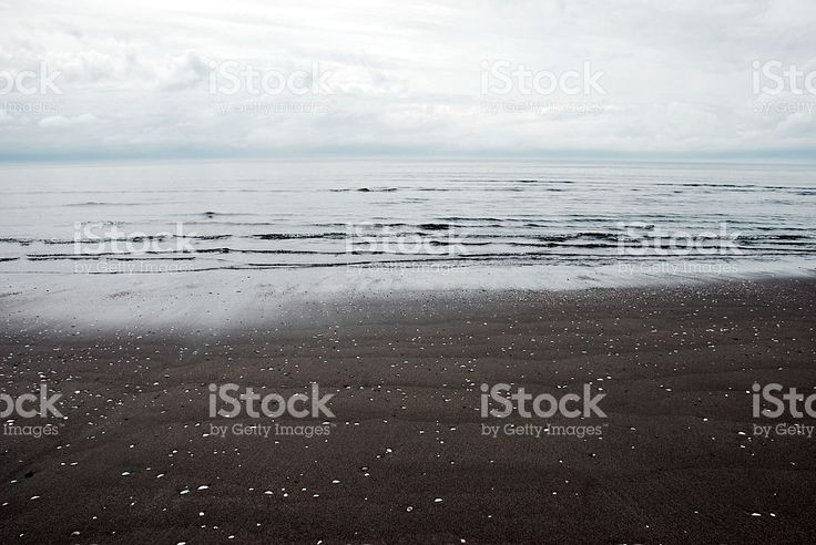 Atmospheric Cloudy Seascape royalty-free stock photo