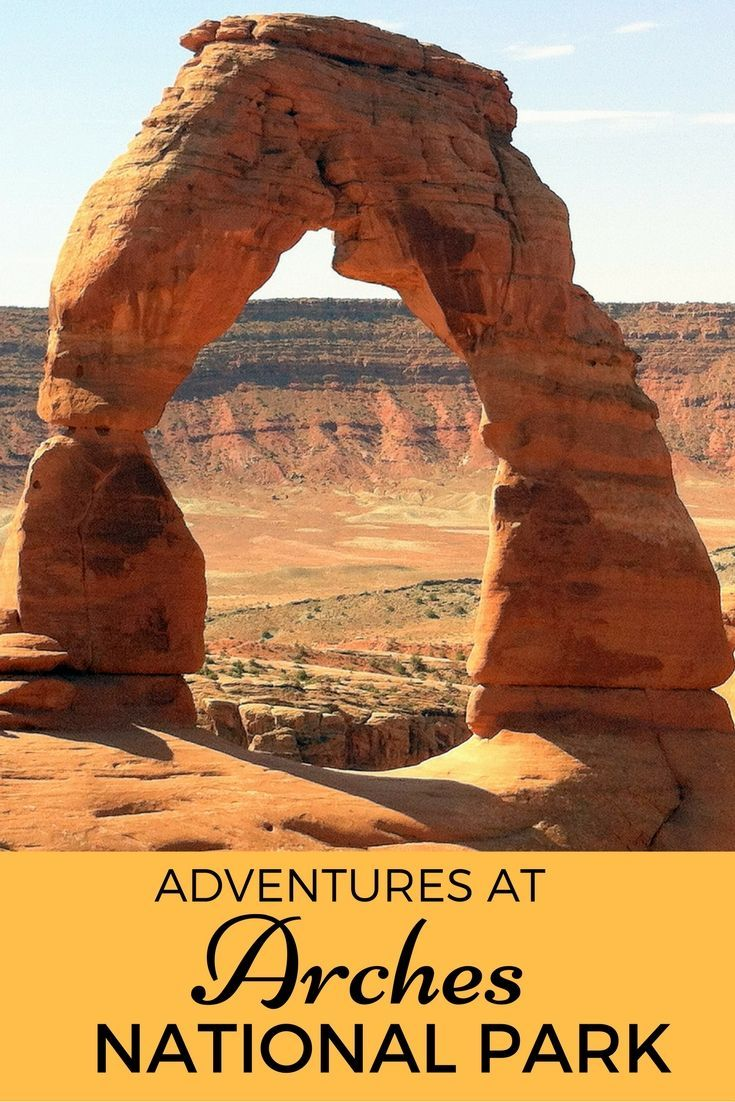 Guide and tips for visiting Arches National Par with kids in Utah, USA. This is Delicate Arch, the park's most famous free-standing arch at 65 feet (20 m) tall.