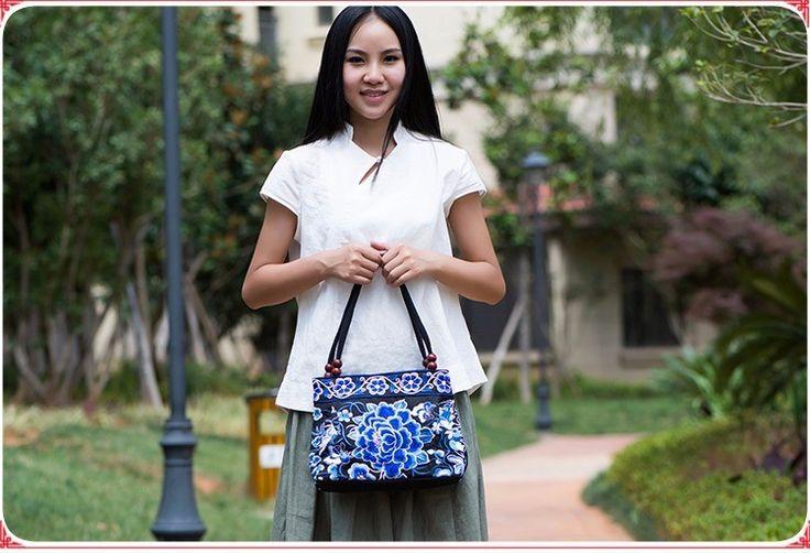 """El nuevo Venir Moda Mujeres """"! Nueva niza Dama Bordado bolsas tendencia nacional bolso bordado bordado Dama bolsa de transporte"""