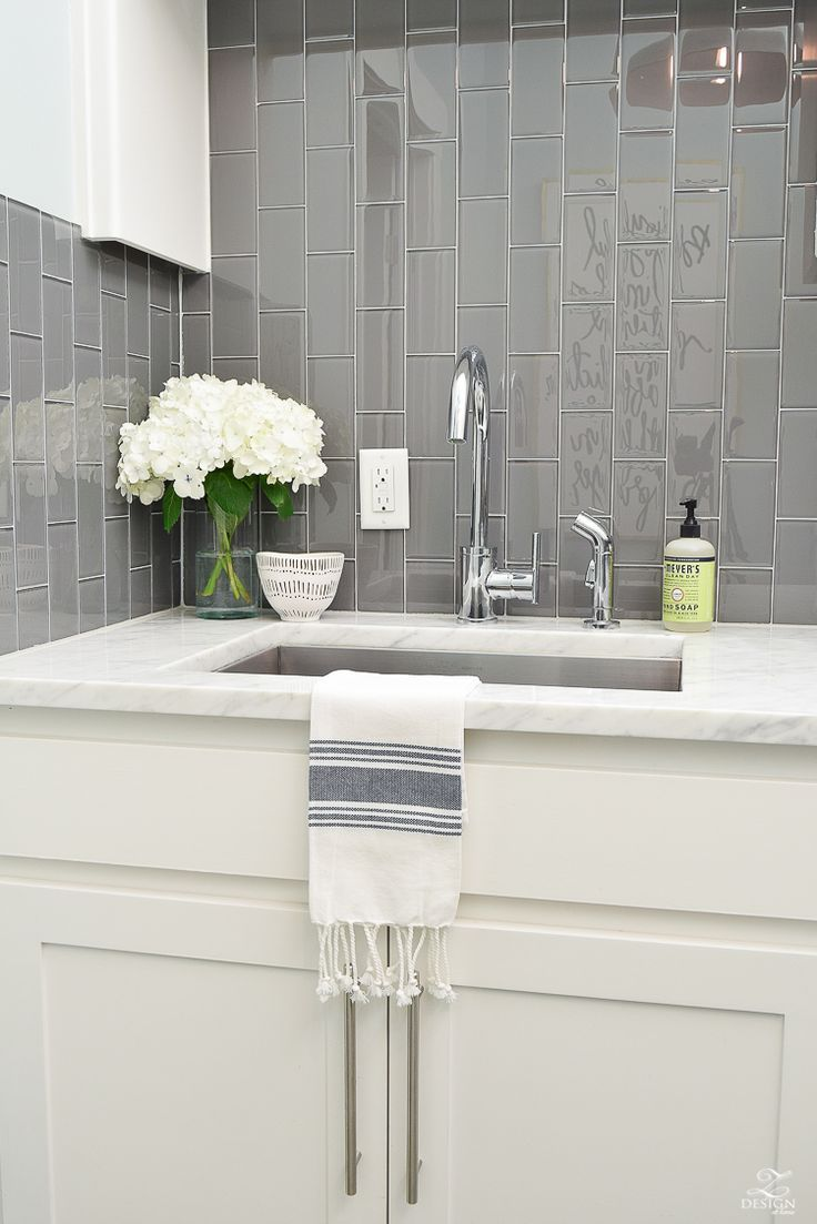 Beautiful Laundry Room Ideas Danze Kitchen Faucet Stainless Laundry Room  Sink Gray Subway Tile Installed Vertically