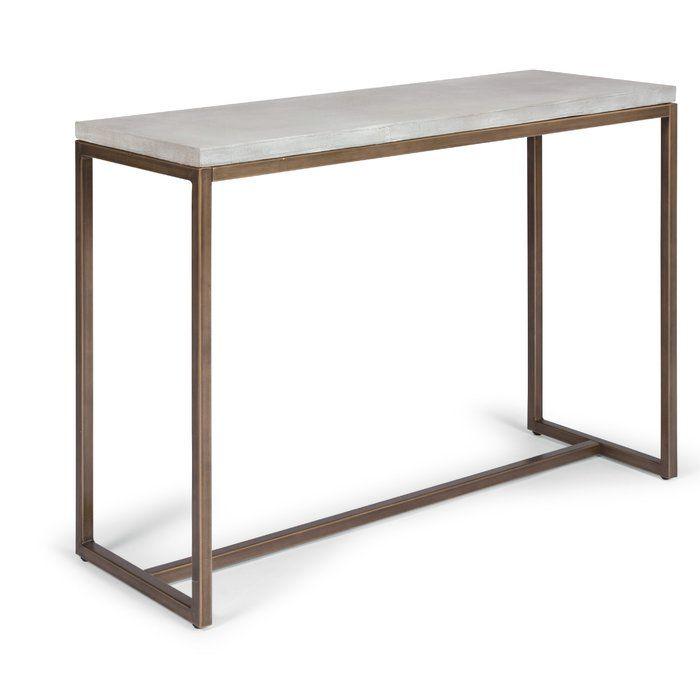 Studebaker Geometric Console Table Reclaimed Wood Console Table Console Table Wood Console Table