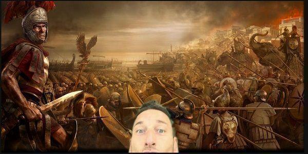 Francesco Totti zrobił sobie selfie podczas rzymskiej bitwy • Śmieszna fotka piłkarza AS Romy • Totti wśród rzymskich żołnierzy >> #memes #totti #football #soccer #sports #pilkanozna #funny