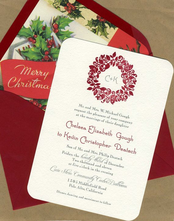 93 best christmas wedding stationery images on pinterest, Wedding invitations