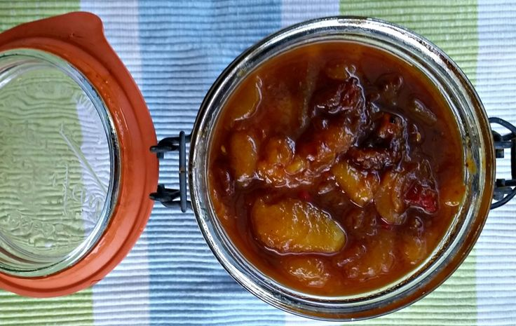 Preserves from- Rosehips and Rhubarb - Spicy Nectarine and Ginger Chutney