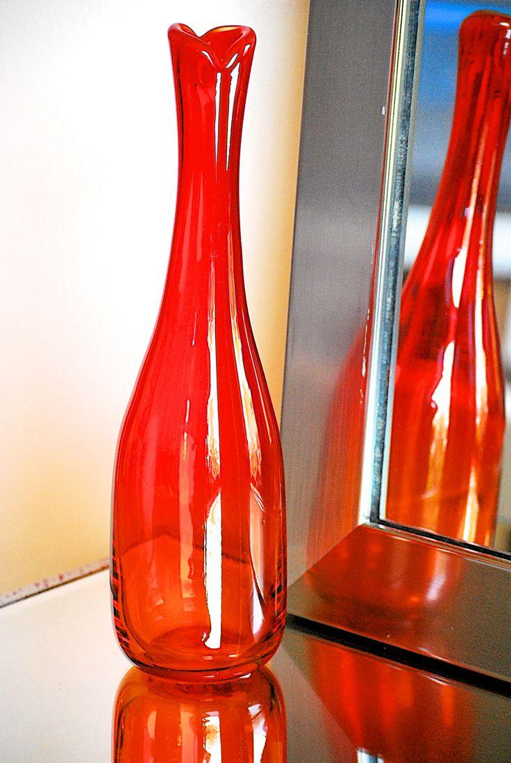 54 best orange glass images on pinterest blenko glass vase and jars vintage blenko hand blown glass vase designed by joel myers as seen in the 1964 catalog reviewsmspy