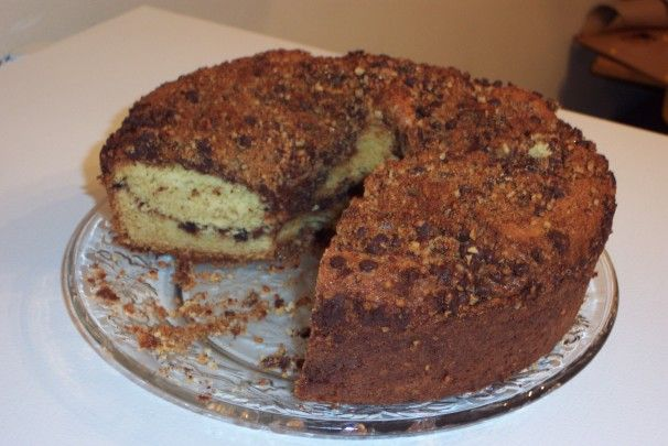 Streusel cake, Streusel coffee cake and Chocolate chips on Pinterest