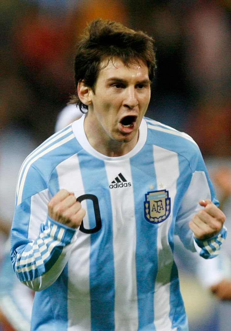 Lionel Messi, currently the greatest soccer player in the world. Born in Argentina.