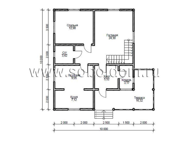 Проект деревянного дома D-67