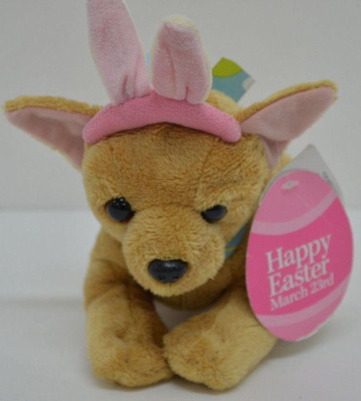 Walmart Happy Easter Chihuahua Puppy Dog Plush Bunny Ears