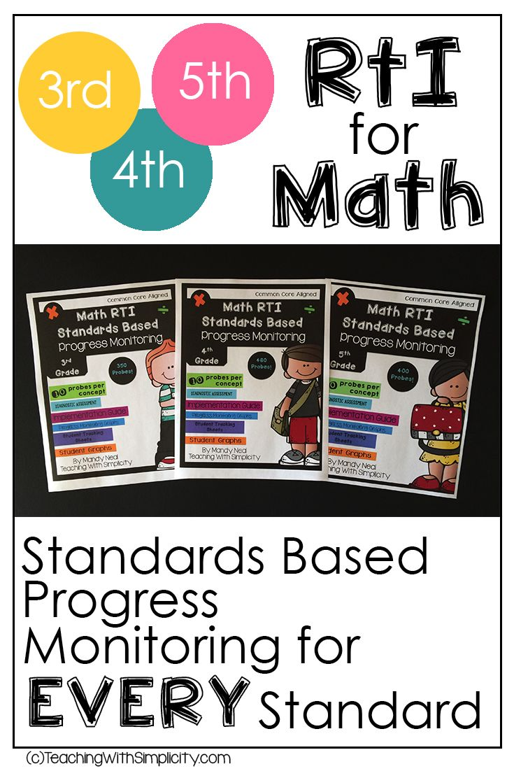 Have you ever been told that you need to be implementing RTI for math? Do you know where to start?  This is the reason I created the Standards based progress monitoring. Providing evidence of students learning is crucial. Progress monitoring will allow you to document student growth and make sure that the interventions that you administer are working. Everything you need to assess and track students is provided here.