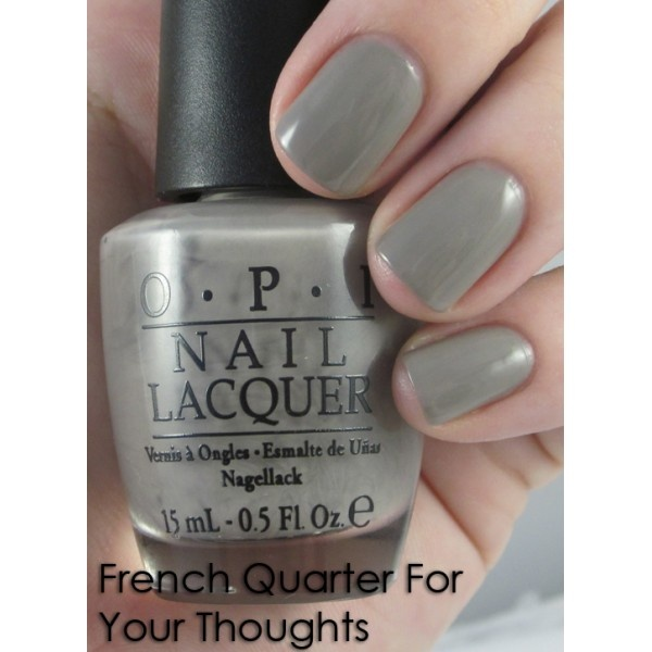 OPI - French Quarter for Your ThoughtsBeautiful Junkie, Nail Colors, Opi French, America Collection, French Quarter, Gray Polish, Nails Polish, Nails Colours, Fall 2011