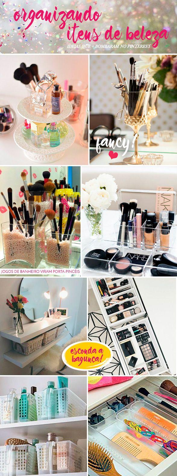 Confira quais são os melhores truques de organização para os seus acessórios e produtos de beleza! super simples e fáceis de fazer