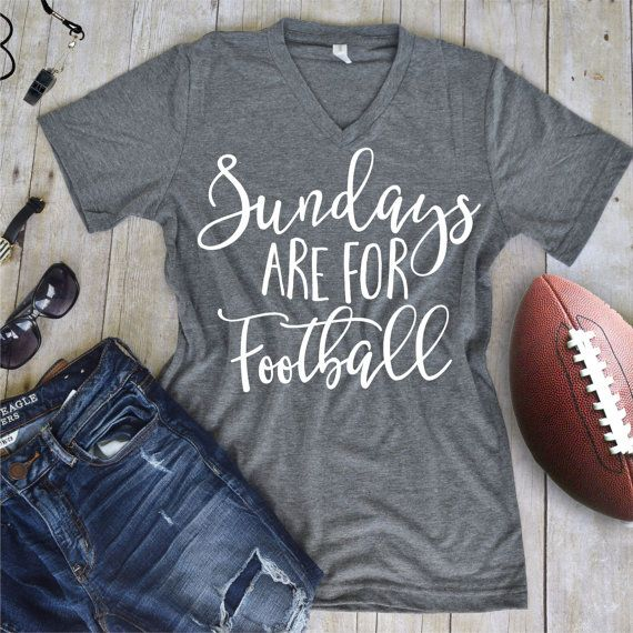 Sundays are for Footbal Tee - Vinyl Tee Shirt - Flowy Tank- Slouchy Tee - Custom…