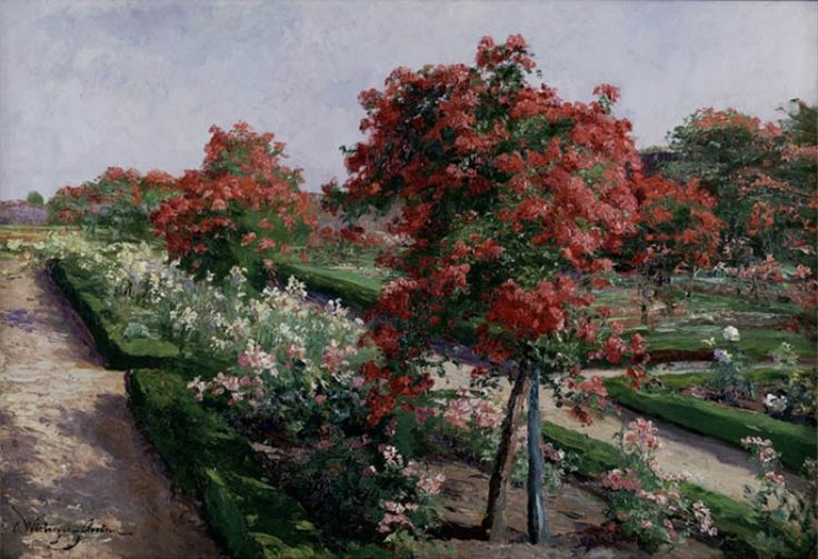 ROSE GARDEN IN GRAFENEGG, BY OLGA WISINGER FLORIAN