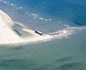 Spidsen af Skagens Gren - luftfoto