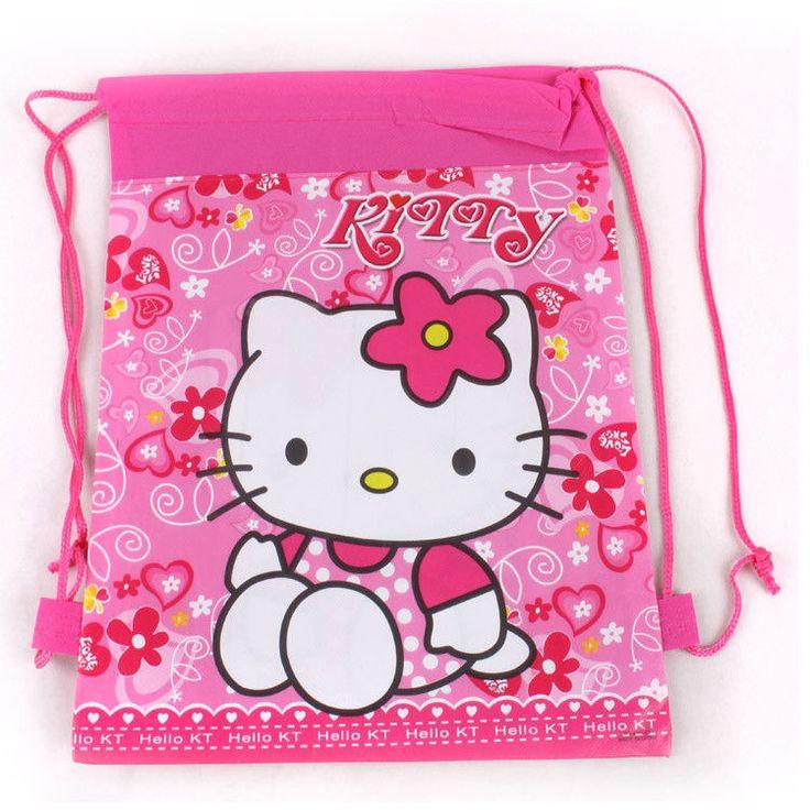 10 Zaini HELLO KITTY Asilo Bambina gadget regali per festa compleanno fine festa