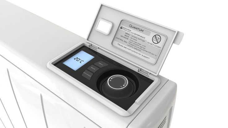 The IQ Storage Heating Systems (known as Quantum in the UK) utilise a state-of-the-art self-learning algorithm to adapt, anticipate needs and deliver just the right amount of heat. Plus, they are highly controllable through their easy to use interface: 7-day programmer with 3 adjustable preset timer profiles, 'Holiday' mode, landlord setting, child lock and much more!