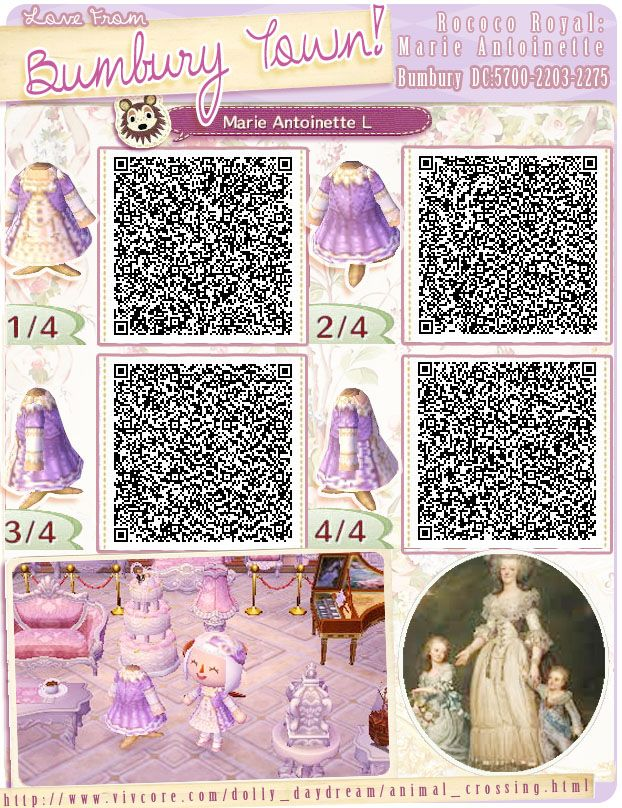 Royal Dresses, Princess Dresses, Lilac Dress, Fancy Dress, Dress Code, Animal Crossing Qr, Qr Codes, Video Game, Rococo