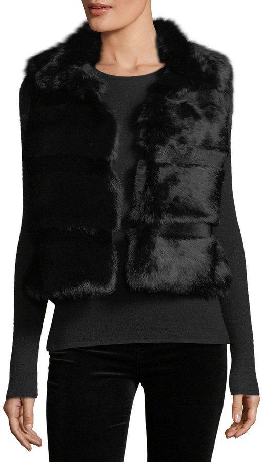 Love Token Rabbit Fur Vest