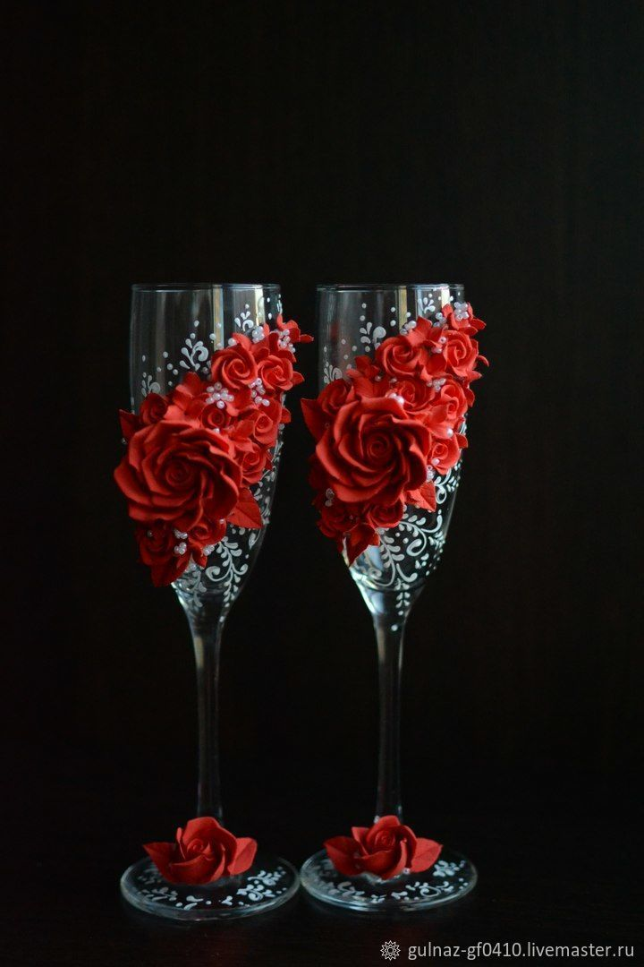 Wedding wine glasses – shop online on Livemaster with shipping