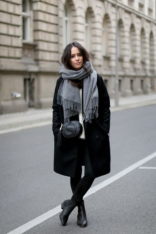 17 Best ideas about Black Coat Outfit on Pinterest | Stan smith