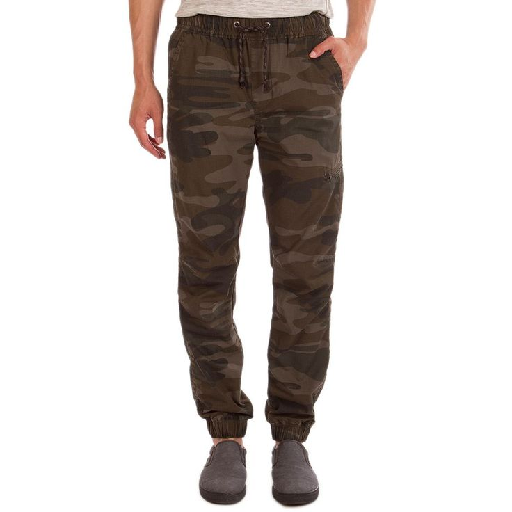 Men's Unionbay Camo Jogger Pants, Size: Medium, Lt Green