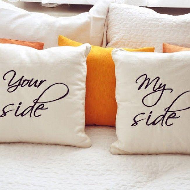 Kolejna fotka poduszki z napisami :) Oczywiście może być na poduszce Twój haft :) www.mymiloo.pl