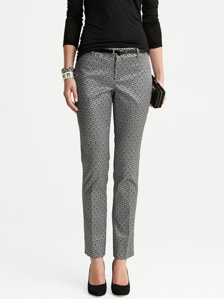 Banana republic Camden-Fit Jacquard Skinny Ankle Pant #levostyle