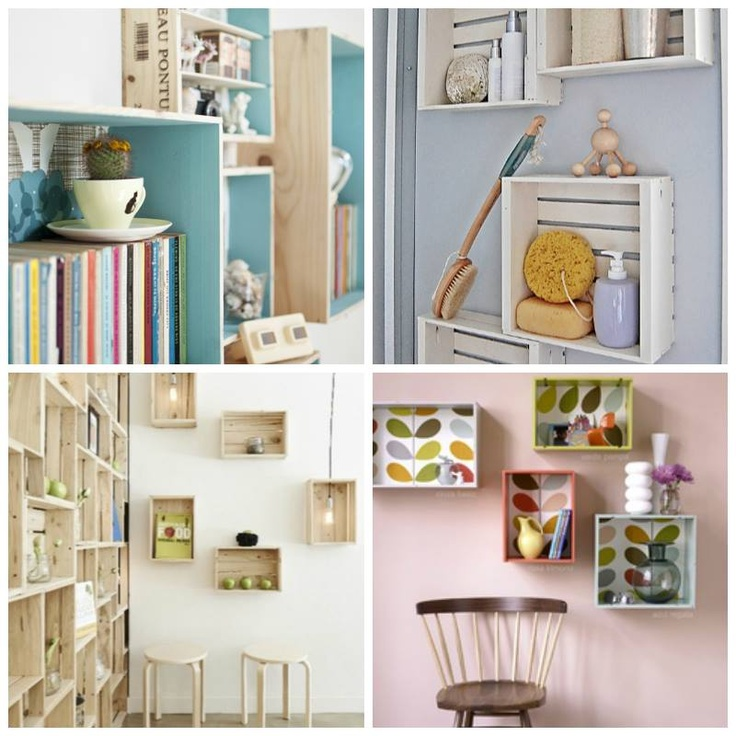 Combina como quieras las cajas reciclado hogar ideas - Ideas para el hogar decoracion ...