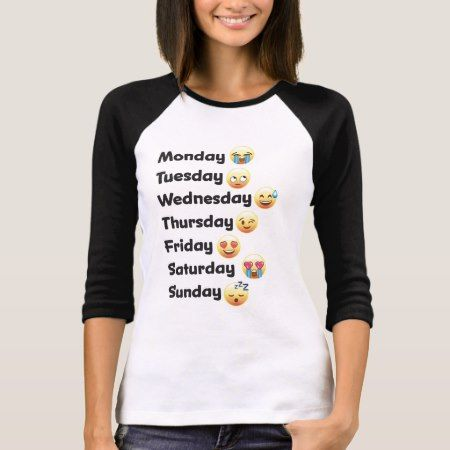 Emoji Days of the Week Shirt - click/tap to personalize and buy