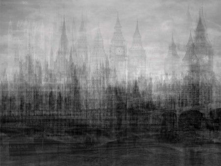 Houses of Parliament, London, 2012, bromide print on rag board