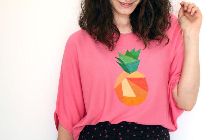DIY Clothes Refashion : DIY: Pineapple top