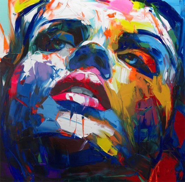 francoise nielly moderne kunst malerei - Moderne Bder