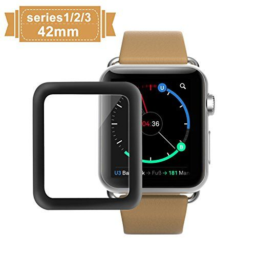 When it comes to good and affordable product, you definitely ought to take a glance  at the Apple Watch 42mm Screen Protector, Amoner iWatch Tempered Glass Screen Film [Full Coverage][2.5D Curved Edge] for 42mm iWatch Series 3/2/1 (Black) . Plenty of customers have reported many good things abo...
