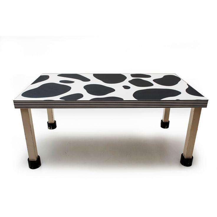 Tavolo Prototipo bianco e nero designer Mika Sato produttore Memphis