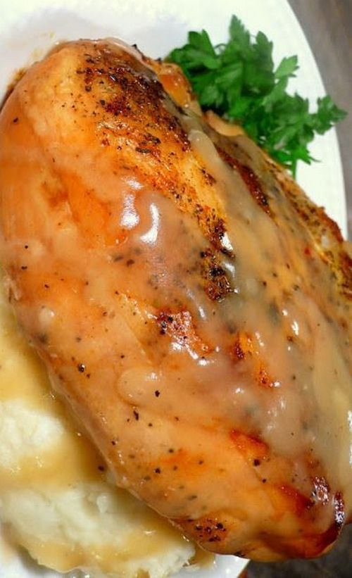 Slow Cooker 'Roasted' Herb Chicken with Gravy